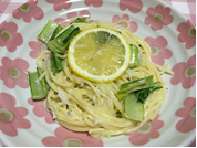 レモンクリームパスタ(2人分)